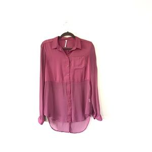 """Free People """"Best of Both Worlds"""" Button Up"""